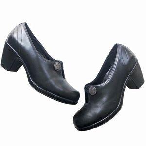 Dansko Black Leather Ankle Booties